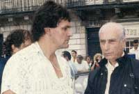 Michel Loreille avec Juan Manuel Fangio