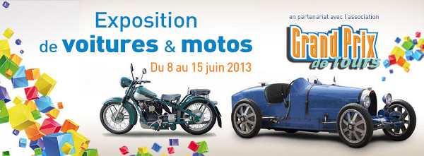 Galerie Nationale de Tours : expo autos et motos