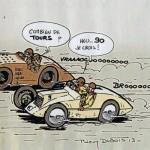 Dessin pour le Grand Prix de Tours 2013 par Thierry Dubois