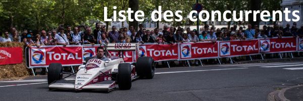 Liste des concurrents Chinon Classic