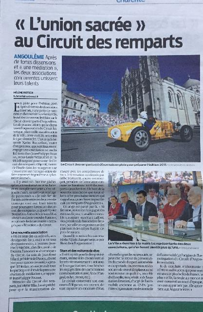 ARTICLE SUD OUEST 10 MARS 2017